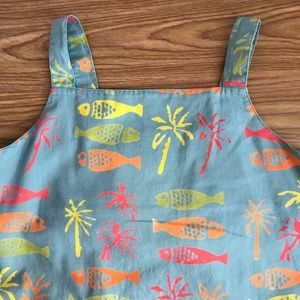 Cure Sundress with Fish and PalmTree Print